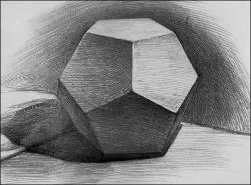 石膏几何体素描技法范本