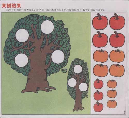 幼儿活动操作材料:数学(小班)(上)