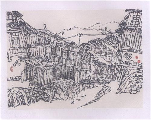 古镇 老村 旧房子:喻湘龙毛笔民居写生集:亚马逊
