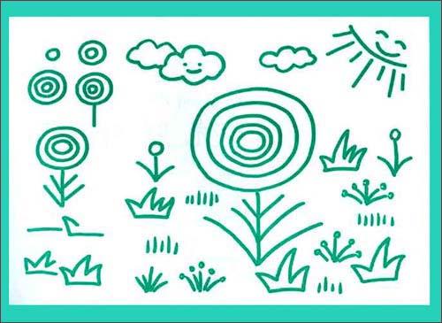 最新幼儿实用简笔画 中级 学绘画,学汉字,学拼音 77张
