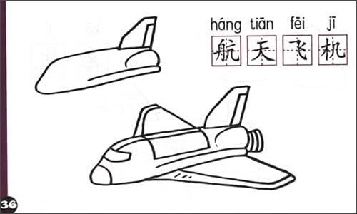 幼儿多功能蒙纸简笔画:车船飞机(注音识字版)平装