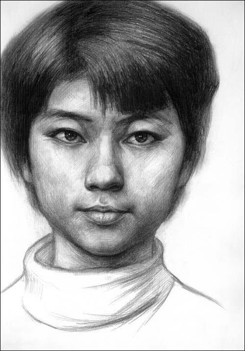 俞建国人物头像素描临摹范本
