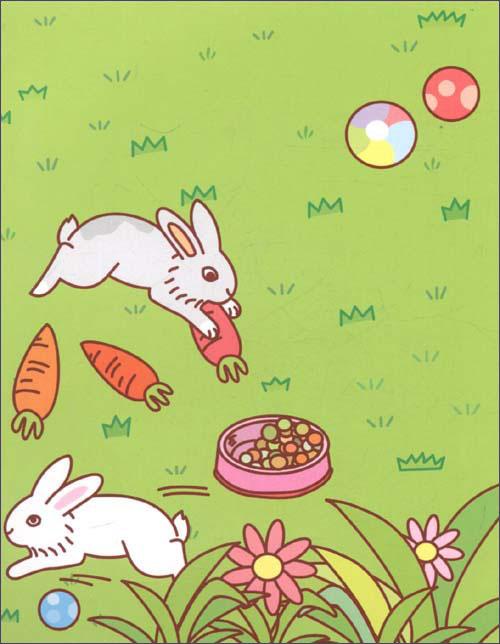 可爱的动物-好宝宝边玩边学贴纸书
