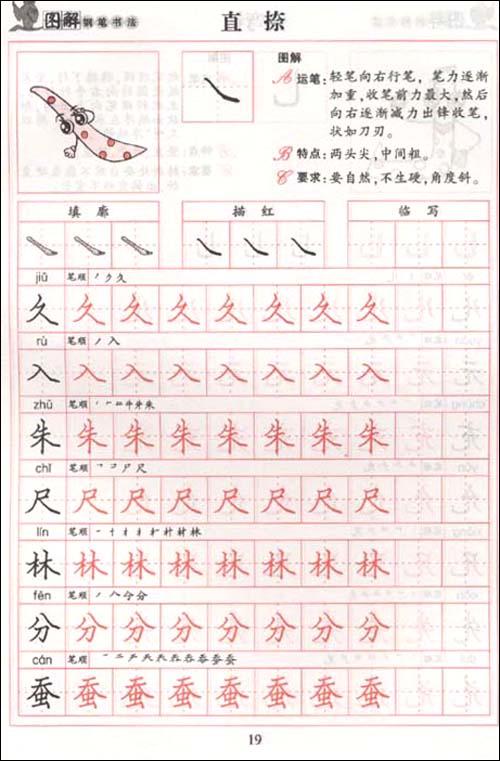 图解钢笔书法字帖:基础训练基本笔画/李放鸣-图书