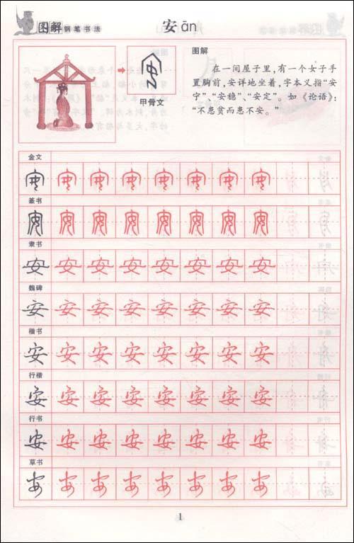 图解钢笔书法字帖 综合训练汉字溯源