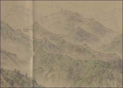 北京名胜手绘图:长城八达岭(珍藏版) [平装]