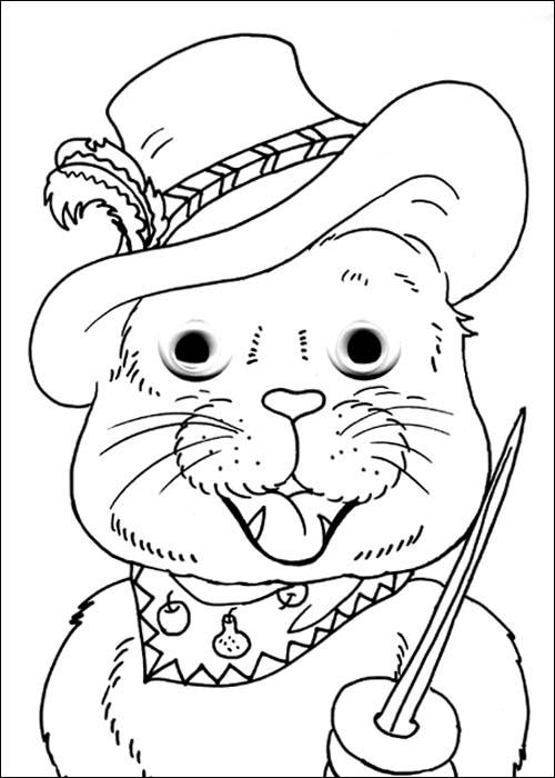 小动物简笔画面具