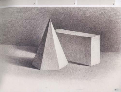 石膏   体写生教程(12岁-18岁)   石膏几何   组合   素描