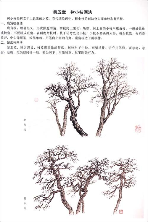 传统中国画技法详解:中国山水画教程(上册); 水墨画教程石头画法图片