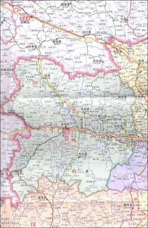 陕西省地图(1:910000)》权威翔实的大比例尺行政区划