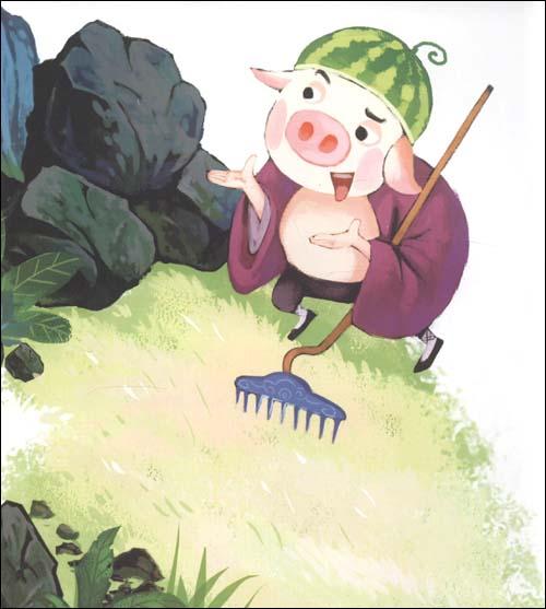 西游记沙和尚简笔画; 西游记背景-8;