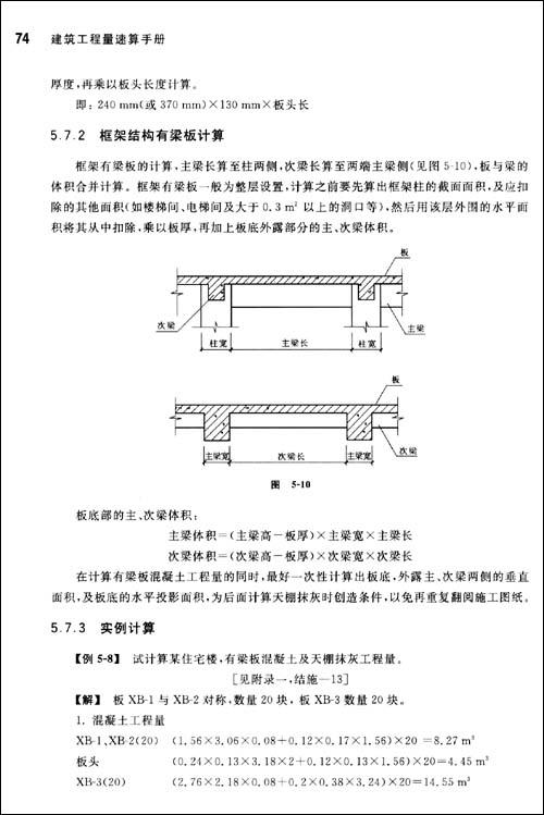 建筑工程量速算手册