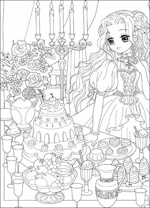 美少女填色:灰姑娘的公主Party狂欢版附贴纸