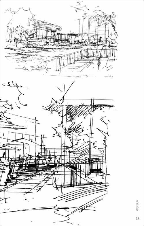 景观•建筑手绘表现应用手册:线稿训练