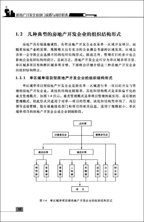 房地产开发企业部门设置与岗位职责
