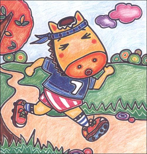 彩色铅笔画动漫卡通形象