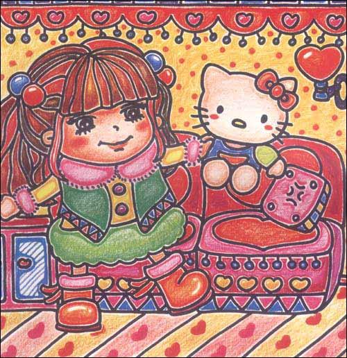 儿童彩色铅笔画