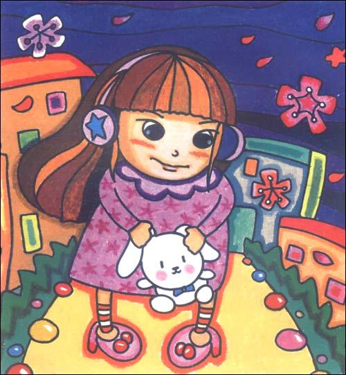 一起来画画少儿美术系列丛书:油画棒画(提高篇)