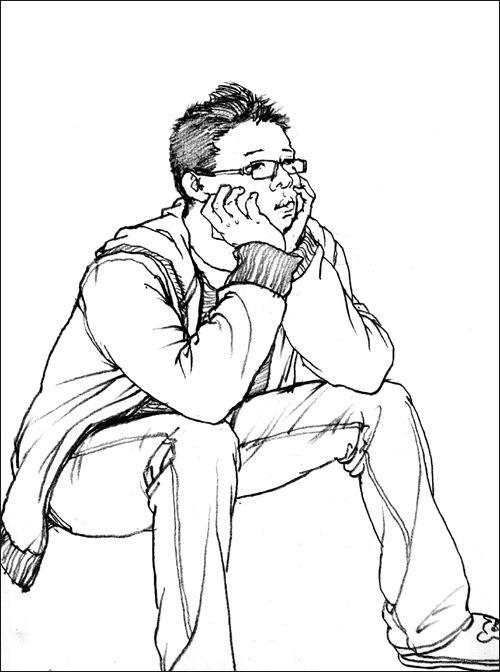 速写人物头部临表情摹图分享展示