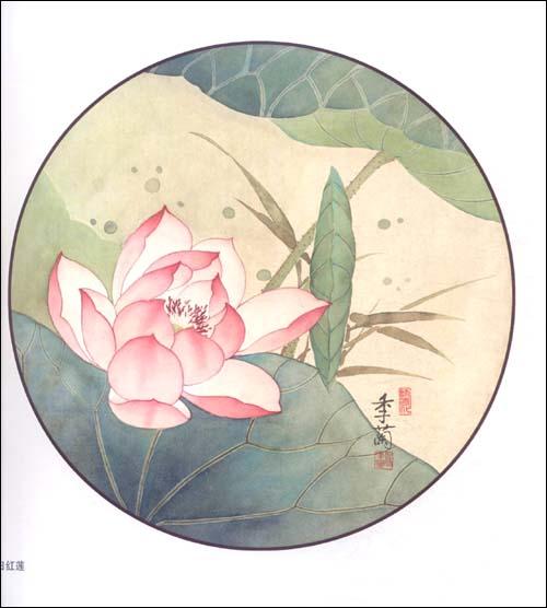 工笔画团扇的绘制 工笔画桃花怎么画        韩剧里通常这种唇是用