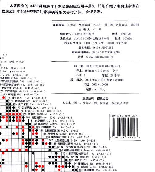 432种静脉注射剂临床配伍应用检索表\/宗希乙
