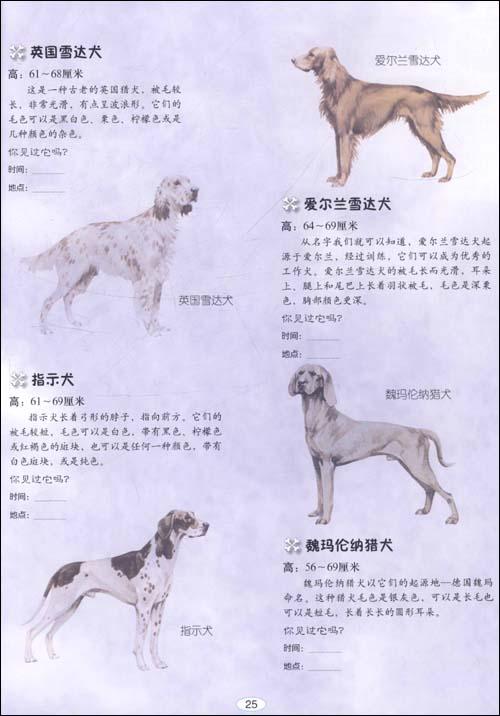 动物百科贴贴画狗 精粹版 平装