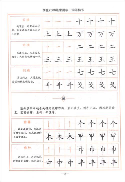 楷书钢笔字帖