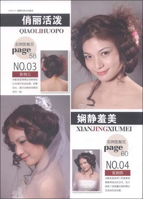 图解时尚:女性盘发