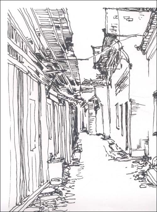家分布图 古镇风景速写 西欧金发美女15p图