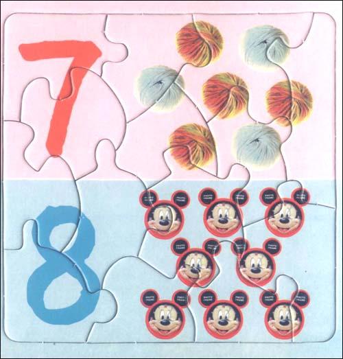 快乐宝宝趣味拼图 奇妙的数字 附奇趣彩色飞碟