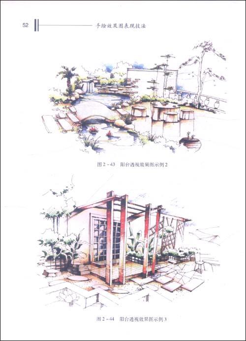 手绘效果图是室内设计专业图纸之一,它是通过绘画的手段形象而直观地