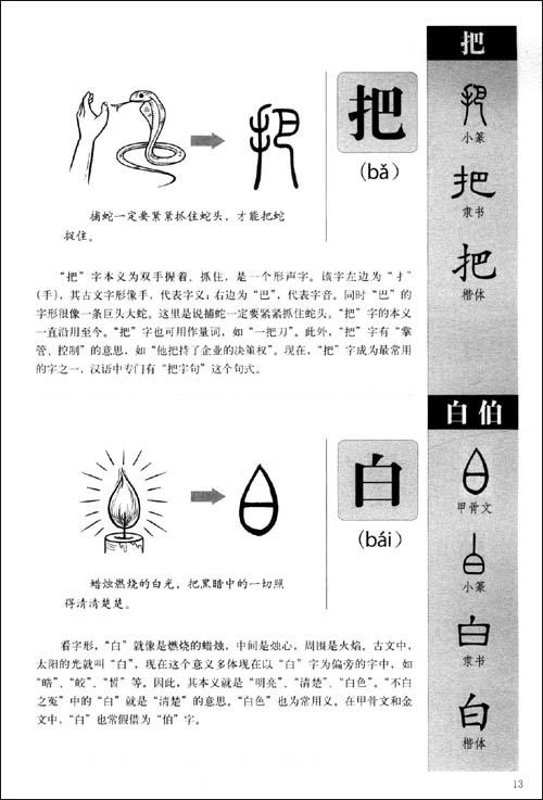 图解《说文解字》画说汉字:1000个汉字的故事
