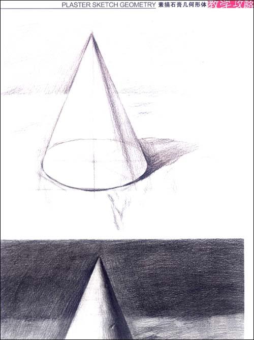 素描石膏几何体圆和正方体展示