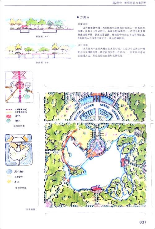 景观滨水快题设计手绘