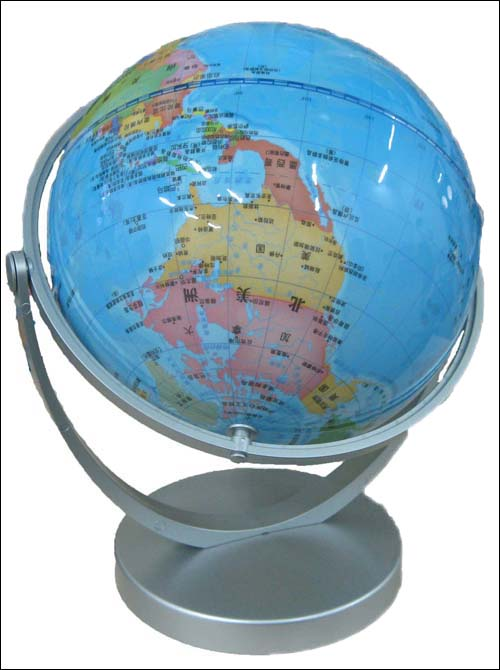14cm精美地球仪