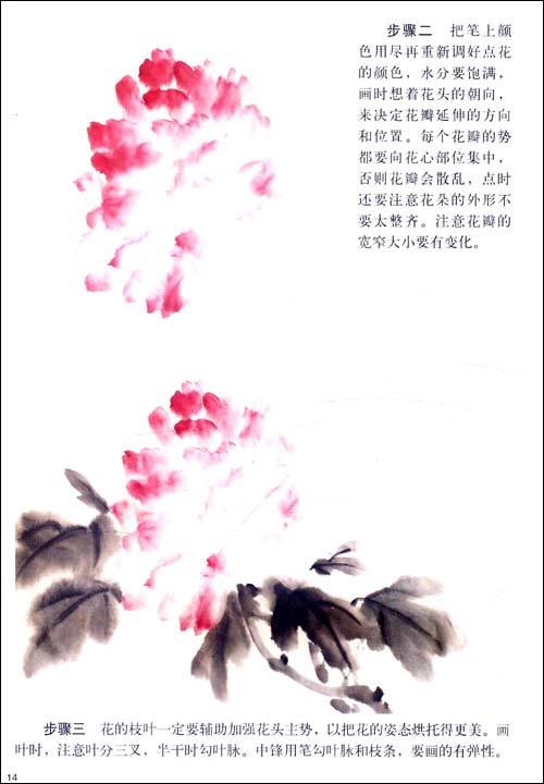 海棠花水粉 手绘