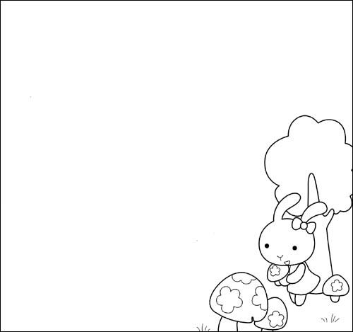 花边简笔画简单又漂亮-小朋友超级模版画 蔬菜