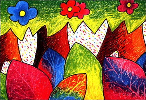少儿美术基础教学丛书:绘世界油棒画基础 [平装]图片图片