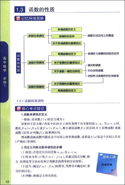 高中数学(必修1)
