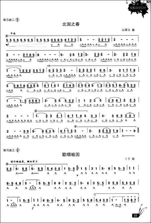 送别口琴24孔简谱歌谱