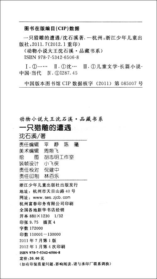 动物小说大王沈石溪品藏书系:一只猎雕的遭遇