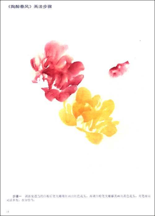 彩墨花卉画法:牡丹月季:亚马逊:图书
