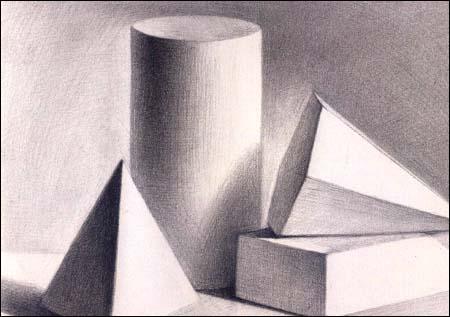 素描几何体图片大全,几何体素描图片,素描组合几何体图片,石膏几何体