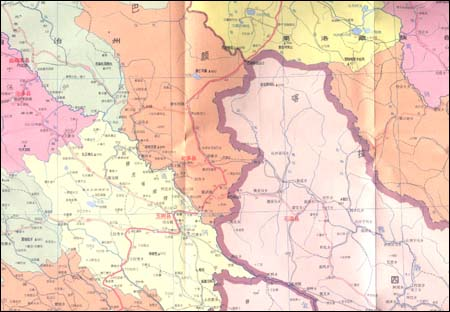 《中华人民共国:青海省地图》