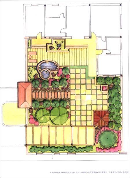 学手绘图设计:庭院景观?景观细部?景观小品