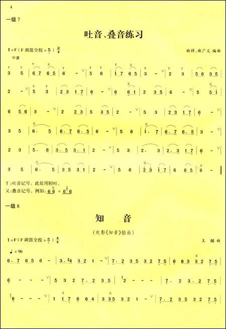 竹笛 大鱼谱子 数字