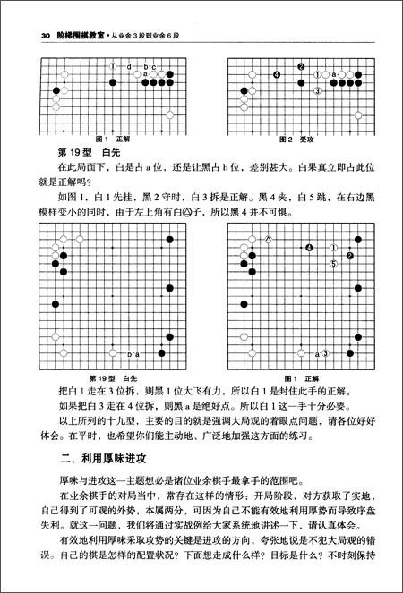 阶梯围棋教室:从业余3段到业余6段