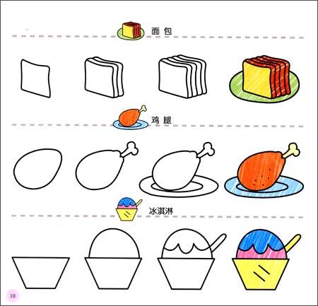 回至 幼儿创意联想画:可口食物(3岁以上适用) (平装)图片
