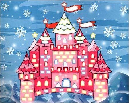 《快乐手工立体贴画:冬天的城堡》 南京星芒文化