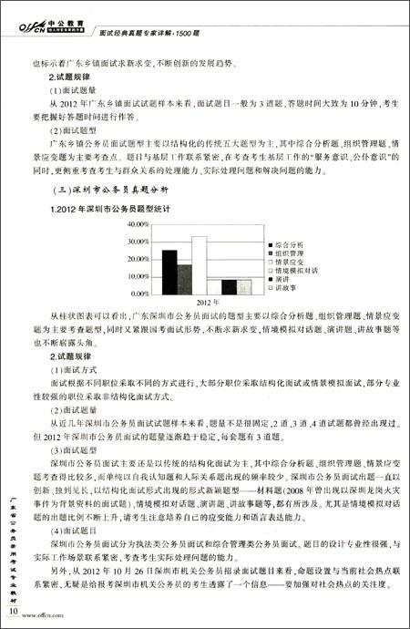 中公教育•广东省公务员录用考试专业教材:面试经典真题专家详解1500题